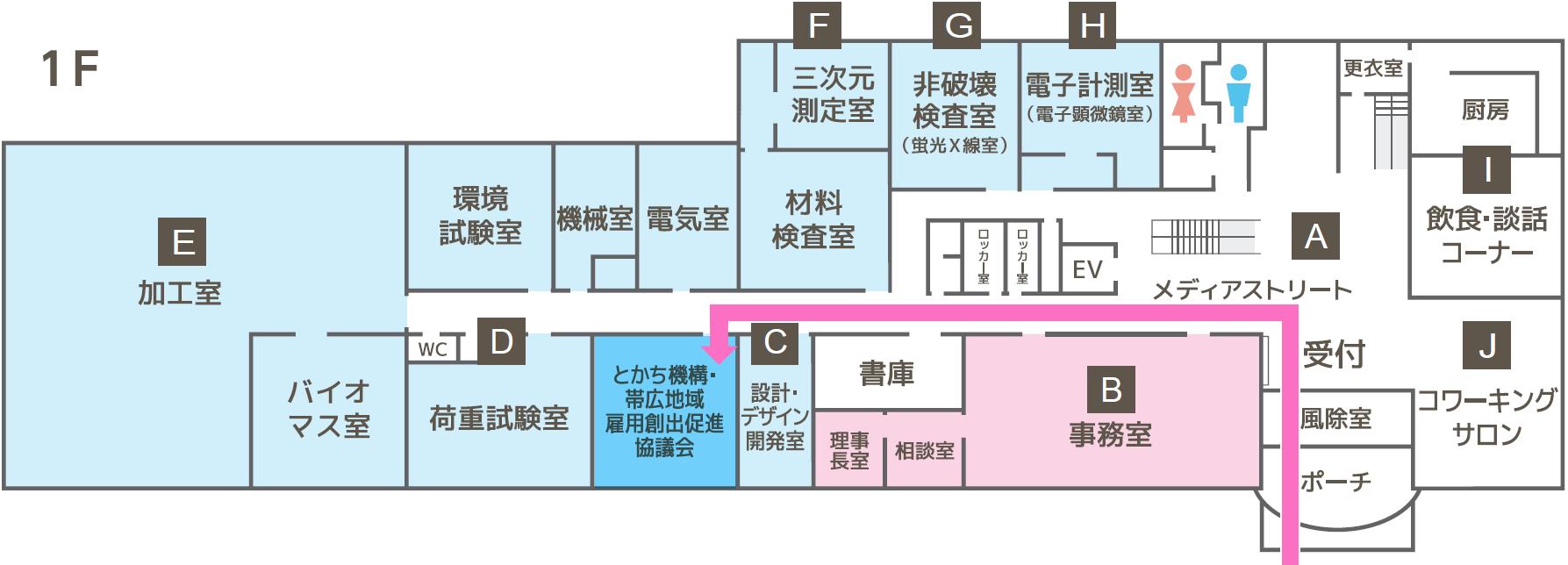 十勝産業振興センターフロアマップ画像